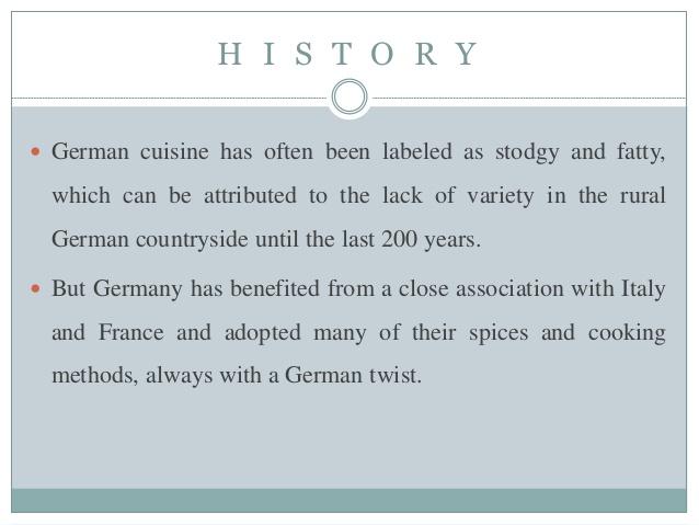 German Cuisine History Delicious Cuisine