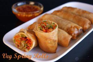 Veg Spring Rolls Best Starter at Asiana Indian Cuisine