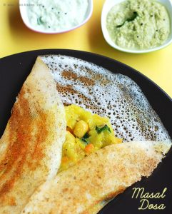Crispy Masala Dosa Recipe A Veg Breakfast Recipe